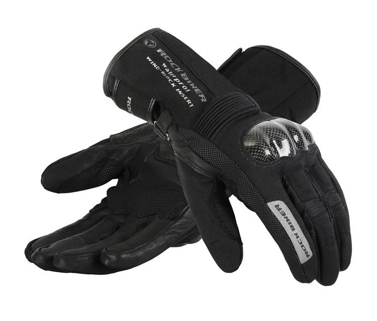 ROCK BIKER Motorcycle Gloves BMX Downhill Mountain Bike Gloves Cycling Running skiing rider Gloves cc motorbike Leather gloves