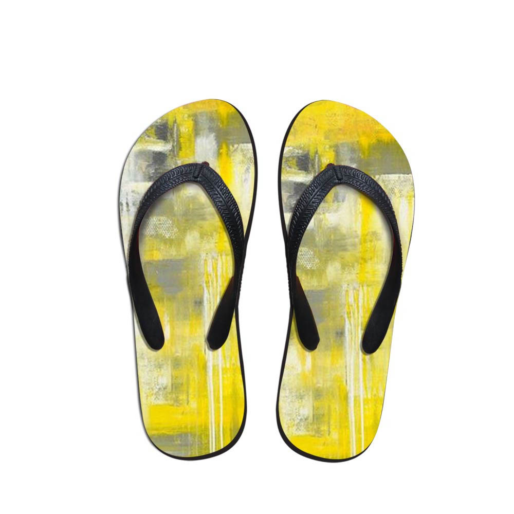 Simple Design Men's Flip Flops Beach Shoes OutsideHand-Painted Sandals Flops Sandals Man Summer Simple Design Flop