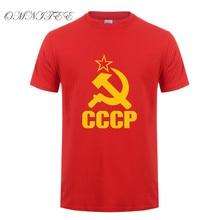 CCCP T Shirts Men USSR Soviet Union KGB Man T-shirt Short Sleeve Mosco