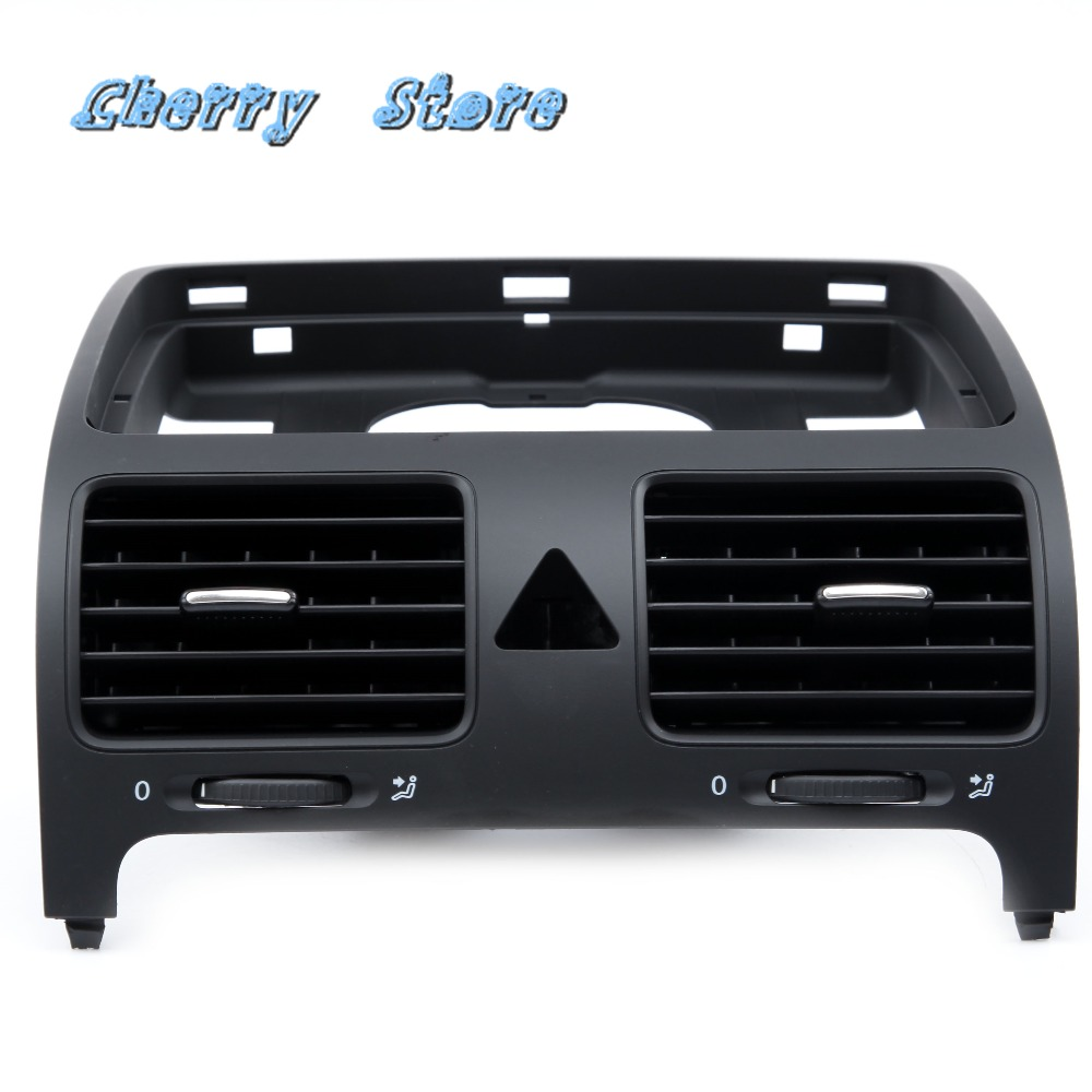 NEW 1K0 819 728 F Plastic Black Front Central Dashboard Air Outlet Vent For VW Jetta