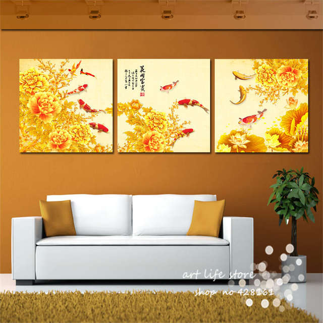 Online Shop Canvas Art Paintings National Beauty Flowers Golden Room ...