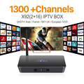 H.265 Europa Canales de IPTV Android TV Box iptv Árabe Francés S912 X92 2G 16G Soporte Sport Canal Plus Francés Iptv Set Top caja