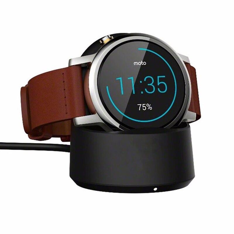 Moto360 Relógio Qi Carregador de Carregamento Sem Fio Cradle Dock para Motorola Mobility Moto 360 1st e 2nd Gen Relógio Inteligente Carregador stand