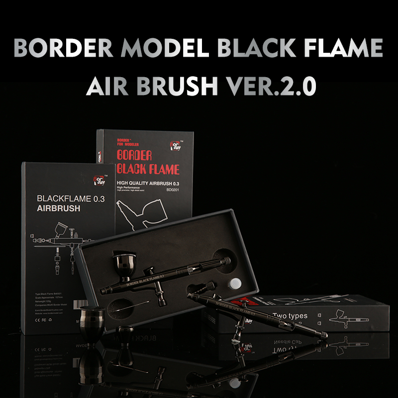 New Listing Toys Military Gundam Assembly Miniature Spray Paint Border Black Flame Airbrush Model Hobby Painting
