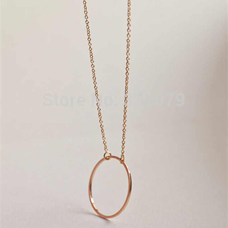 Vòng Tròn Mặt Dây Chuyền Cổ Vĩnh Cửu Collares Tối Giản Trang Sức Dainty Mãi Mãi Nữ Cổ Quà Tặng