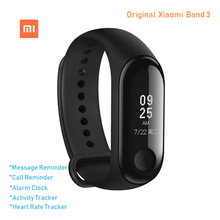цена на Original Xiaomi Mi Band 3 Smart Wristband Bracelet MiBand Band 3 Big Touch Screen OLED Message Heart Rate Time Smartband