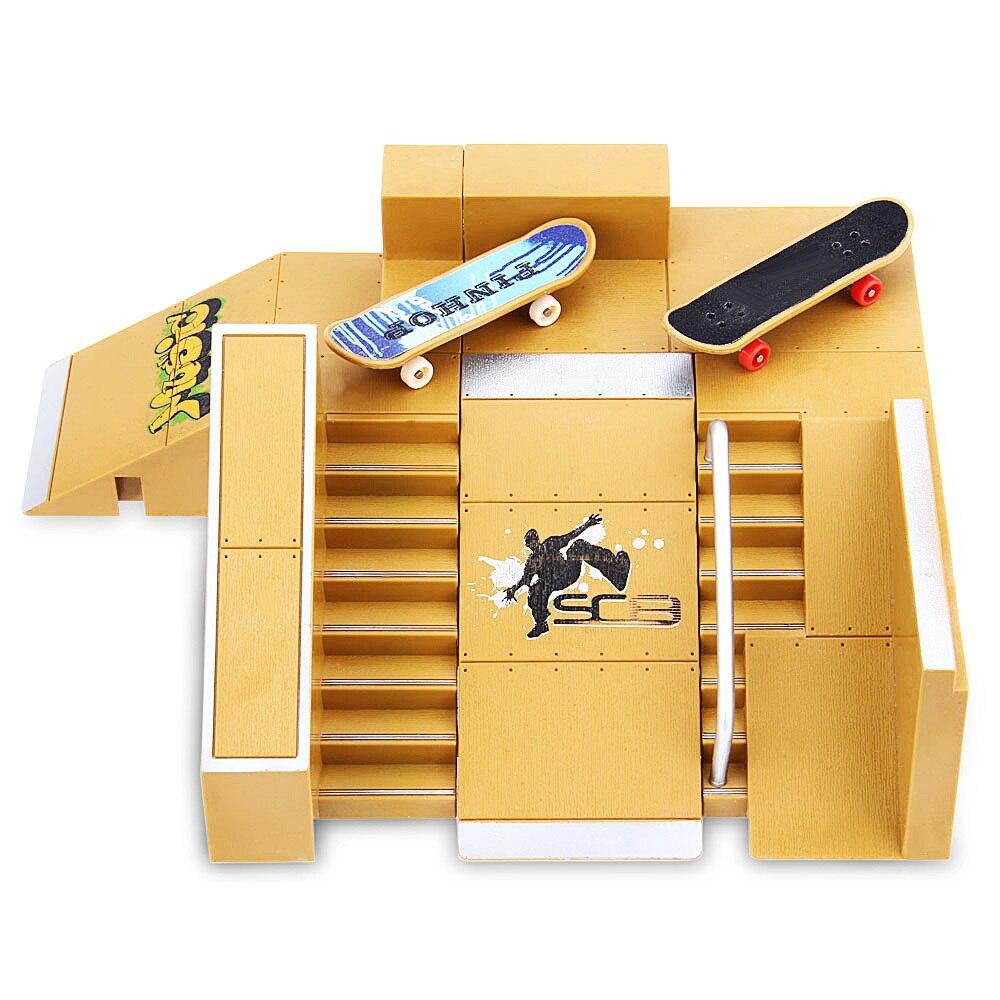 Nuevo 5 piezas Skate Park de rampa de Tech Deck Fingerboard excelente extrema a los entusiastas de los deportes adecuado para todas las edades regalos