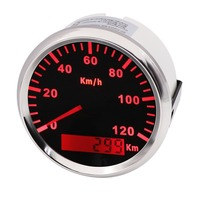 Pack of 1 0 120km/h GPS Speedometers Tuning 85mm LCD GPS Speed Mileometer Gauges Devices Speed Chart with Antenna for Car Boat