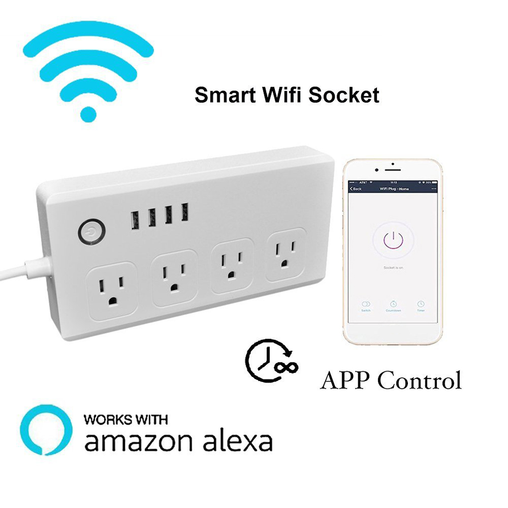 US $27 53 32% OFF|SM S0301 Wireless Control Wifi Multi Plug Power Socket  Smart Home Automation US Plug Outlet-in Home Automation Modules from  Consumer