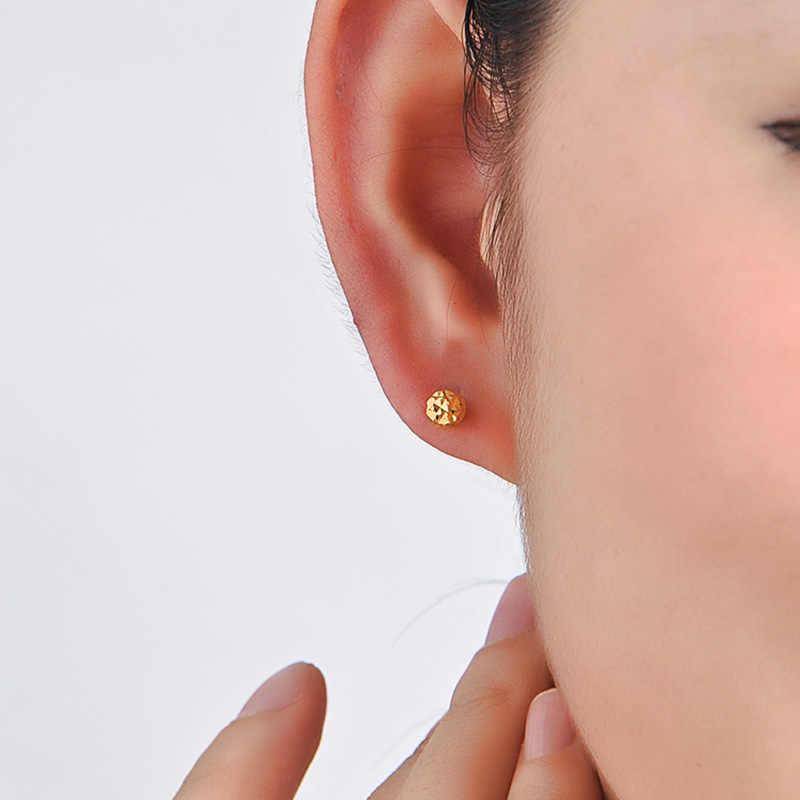 ต่างหูทอง 18 K สีเหลือง Rose สีขาวใหม่แฟชั่นอินเทรนด์ผู้หญิง Ball ขนาดเล็กหญิงหมั้นเครื่องประดับ 2020 ขายร้อน PARTY คลาสสิกดี