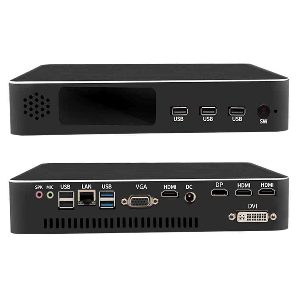Multi Display Dedicated Mini PC With Fan Intel Quad Core E3-1231V3 Up To 38GHz 8MB Plus 2*HDMI DP DVI Mini Desktop Computer