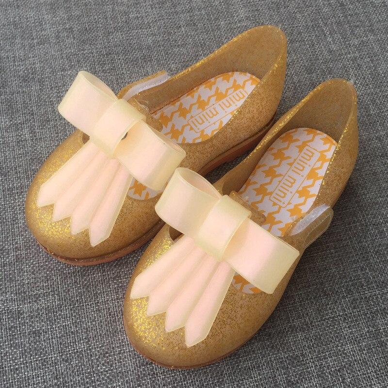 summer 2018 Mini Melissa New Girls Princess Shoes Girls Shoes Bow Princess Shoes Baby Melissa Shoes Jelly Sandal For Kids