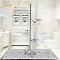 FAOP Towel Bars Stainless steel bathroom Toilet Brush Holders Chrome Roll Paper Holders Paper Hanger Bath towel back Bath