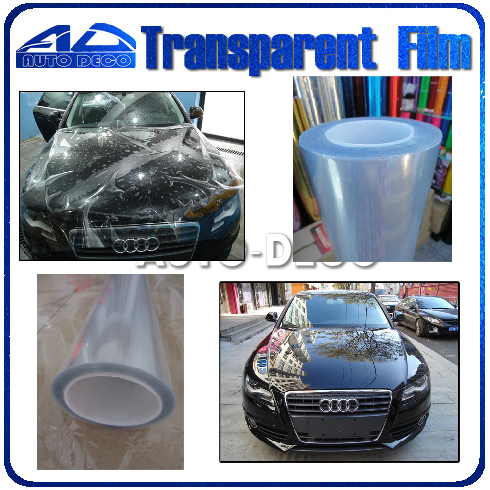 Free Shipping Car Transparent Protective Film Auto Protection Sticker PVC Vinyl Sheet Thickness:0.2mm