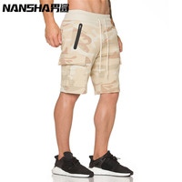 NANSHA New Brand High Quality Men Shorts Bodybuilding Fitness Gyms Workout Jogger Shorts Camouflage Shorts