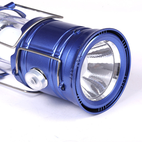 Classic style 6 LEDs Rechargeable Camping Light Collapsible Solar Camping Lantern Tent Lights for Outdoor Camping Hiking Karachi