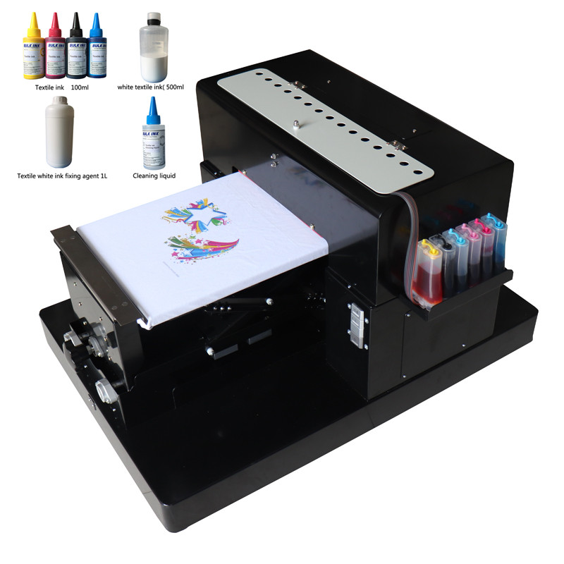 A3 Size DTG Digital Garment Printer Directly to Print Dark Light Color Flatbed Printer for T Shirt