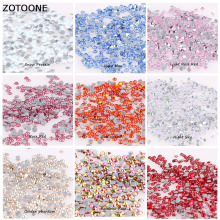 ZOTOONE 1440pcs Glass Strass Hotfix Rhinestones for Clothes SS6 SS8 SS10 SS16 SS20 Sticker Crystals Nails Sew on Garment Bag