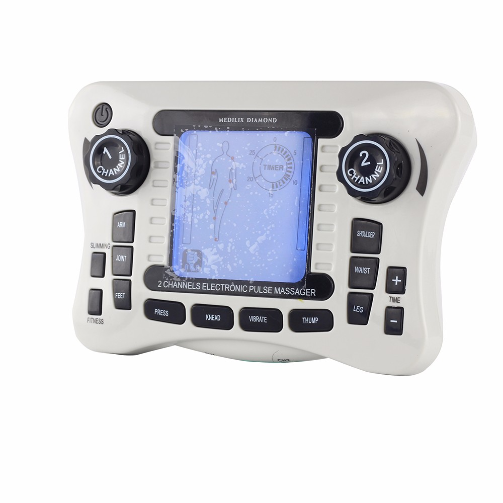 308B 2Channel Output Electrical Elactical Stimulator Tens Machine Digital Therapy Massager Body Knee Waist Shoulder Pain