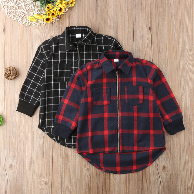 12cbb1b9c8c8b Christmas New Long Sleeve Kid Baby Boy Girls Shirts Red Black Plaid Blouses  Child Xmas Clothes-in Blouses & Shirts from Mother & Kids on ...