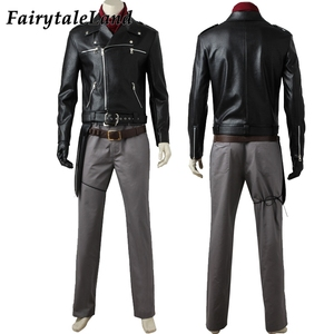 Image 3 - Negan Costume dhalloween, Costume pour adulte TV The Walking Dead season, 8 Cosplay Negan Black veste écharpe, ceintures, tenue Cosplay