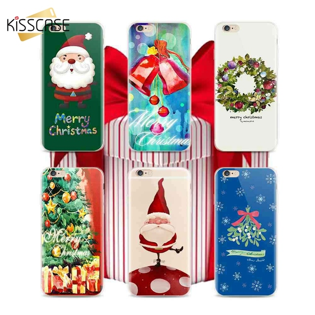 kisscase original christmas phone case for iphone x 8 7 6s 6 5s cool merry christmas