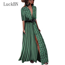Sexy Deep V Neck Patchwork Summer Dress Women Polka Dot Print Bohemian Maxi Dress Slit Party Irregular Long Dress Vestidos red satin deep v neck slit hem maxi slip dress