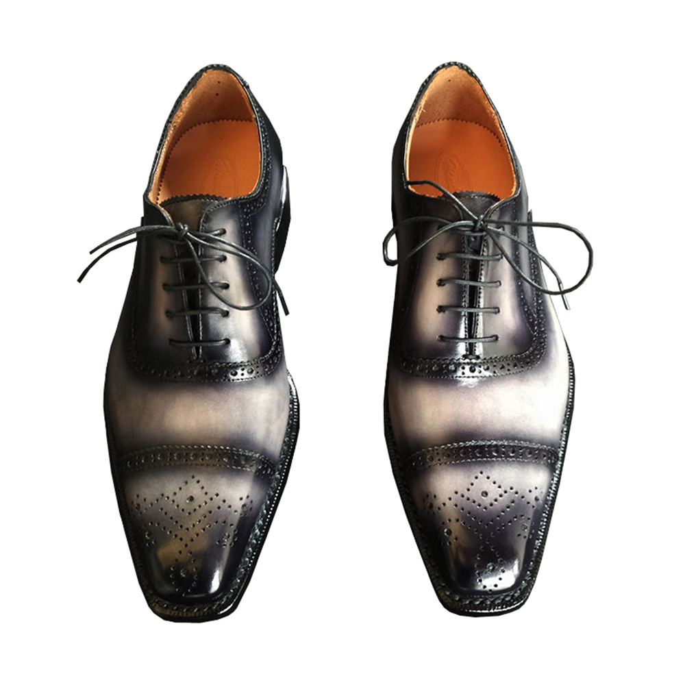 Sipriks Luxury Mens Goodyear Welted Shoes Italian Custom Patina Leather Brogue Oxfords Male Wedding Dress Shoes Boss Ofiice Shoe-in Formal Shoes from Shoes    3