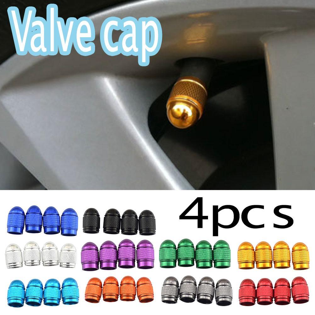 4PCS Automobile Tire Cap Valve Cover Aluminum Valve Cap Wheel Cap Tires Color Cute Valve For Bicycles Electric Vehicles
