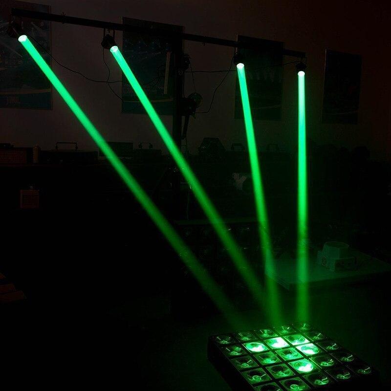 Светодиодный сценический луч светильник мини принадлежности для свадебных церемоний диско вечерние луч Точечный светильник диско светильник лазерный проектор для сценического освещения Smart Dj оборудование - Цвет: Green