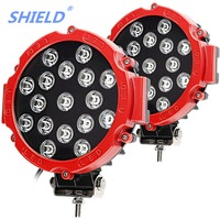 7 51W LED Work Lights 12V 24V High Power Spot beam For Lada 4x4 Offroad Truck Tractor ramp ATV SUV Car Round Driving auto lamp