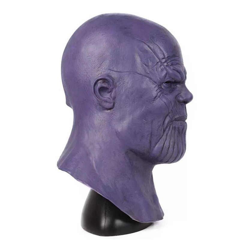 Anime Filme Vingador Infinito Guerra Máscaras Adulto Inteiro Cabeça Latex Máscara Capacete Vingadores Thanos 4 Endgame Purim Partido Presente de Aniversário