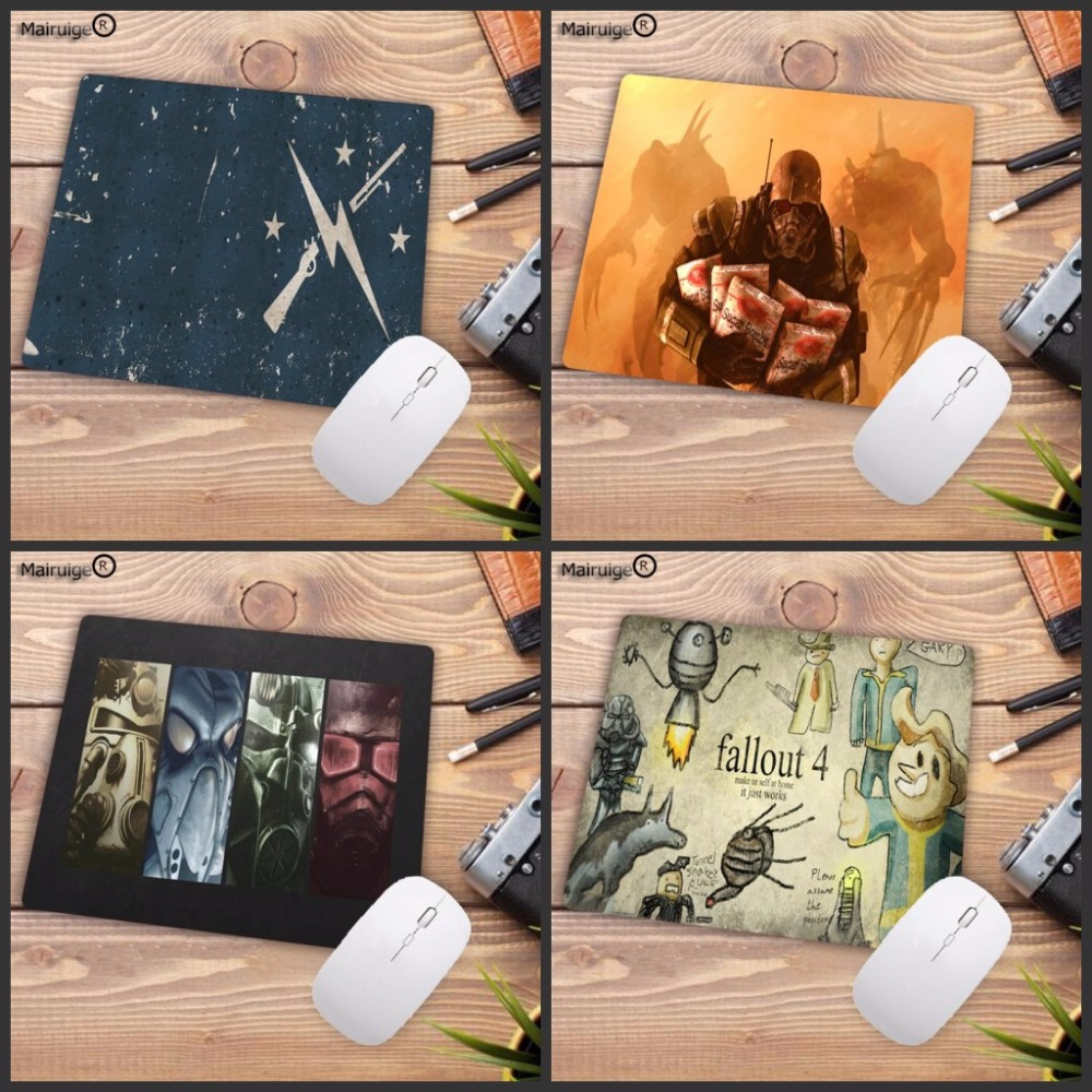 Mairuige For Fallout Wallpapers Drop Shipping Gaming Keyboard Small Mouse Mats 18x22cm 20x25cm 25x29cm Custom High Speed