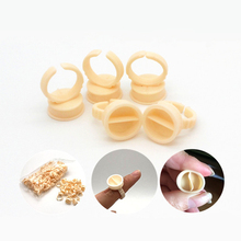 100pcs Disposable Permanent Makeup Ring Divider Soft Silicone Tattoo Ink Eyebrow Lip Pigments Holder Rings Container/Cup