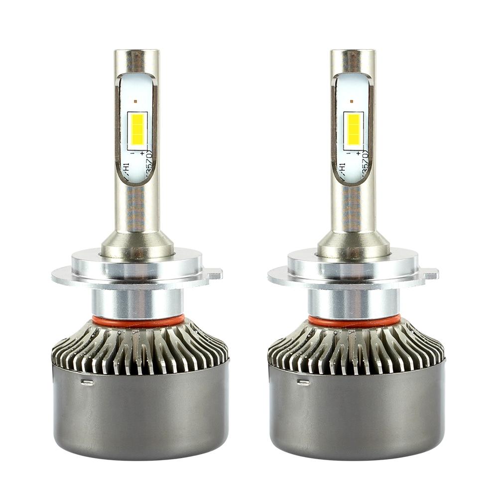 2 pièces H7 LED H4 Phare De Voiture Automatique 9005 9006 H3 H13 H8 880 H27 9004 9007 H11 LED H1 50 W 8000LM 6000 K Automobile Ampoule CSP Lampe