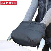 JOYREN Nuovo bambino trolley accessori bambino trolley guanti caldi guanti invernali guanti panino del cotone di seta impermeabile nero Un tipo
