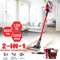 Red Wireless Cleaner 2 Level Adjust Hand Vacuum Cleaner Cyclone Dust Collector 2200mAh Lithium Battery Cordless Vacuum Cleaner