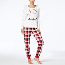 Cute Christmas Bear Plaid Printed Family Matching Pajamas