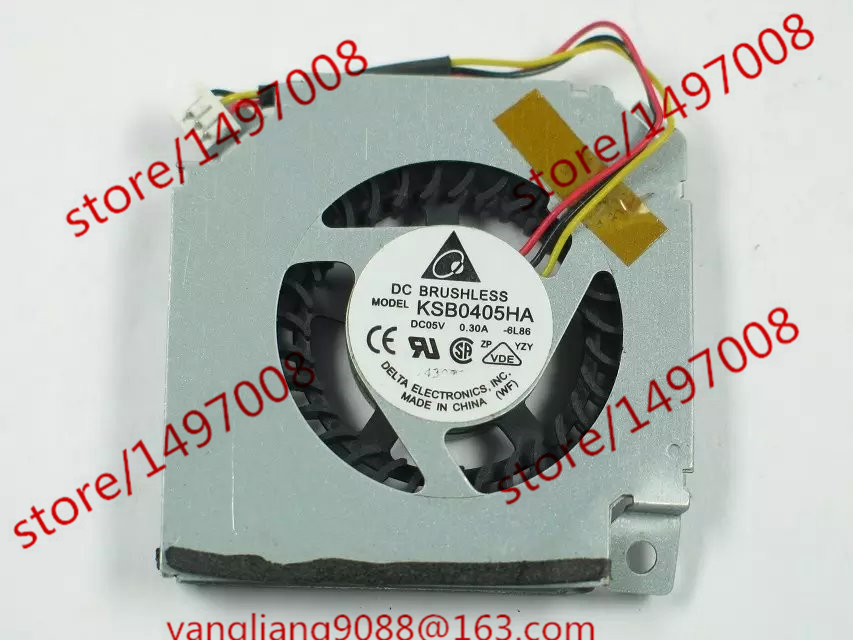 Free Shipping For DELTA KSB0405HA, -6L86 DC 5V 0.30A 3-wire 3-pin connector 45mm Server Baer Cooling fan видеонаблюдение proconnect 45 0405