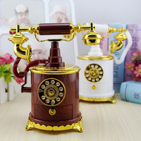 Retro Refinement Telephone Set Music Box Personality House And Home Romance Furnishings Creative Artware Gift Collection