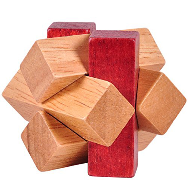 Wooden Unlock Ring Lock Wood Knot Locks Logic Puzzle Burr Puzzles Brain Teaser Intellectual Assembly Toy