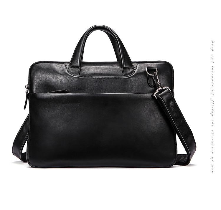 Genuine Leather Men Briefcase Bolso Hombre Cowhide Leather Business Men Handbags Laptop Computer Bag Crossbody Shoulder Bag