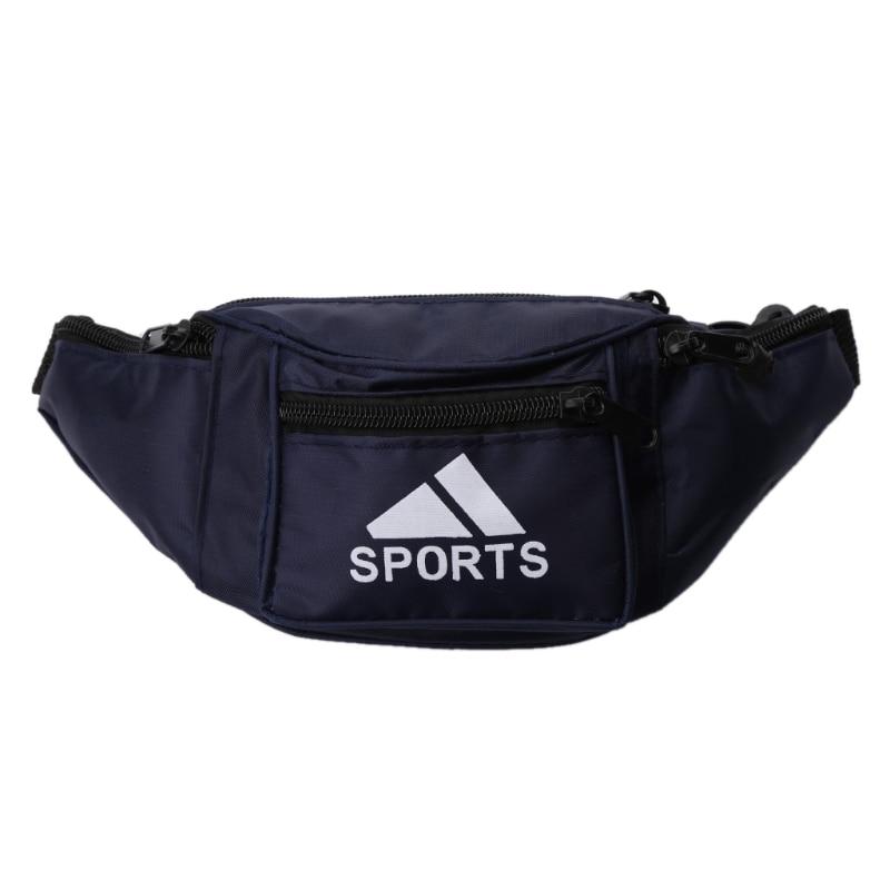 Men Waist Bag Running Outdoor Sport Belt Wear Waterproof Solid Multi-function Coin Phone Charge Waist Banana Fanny Pack Bum Bag