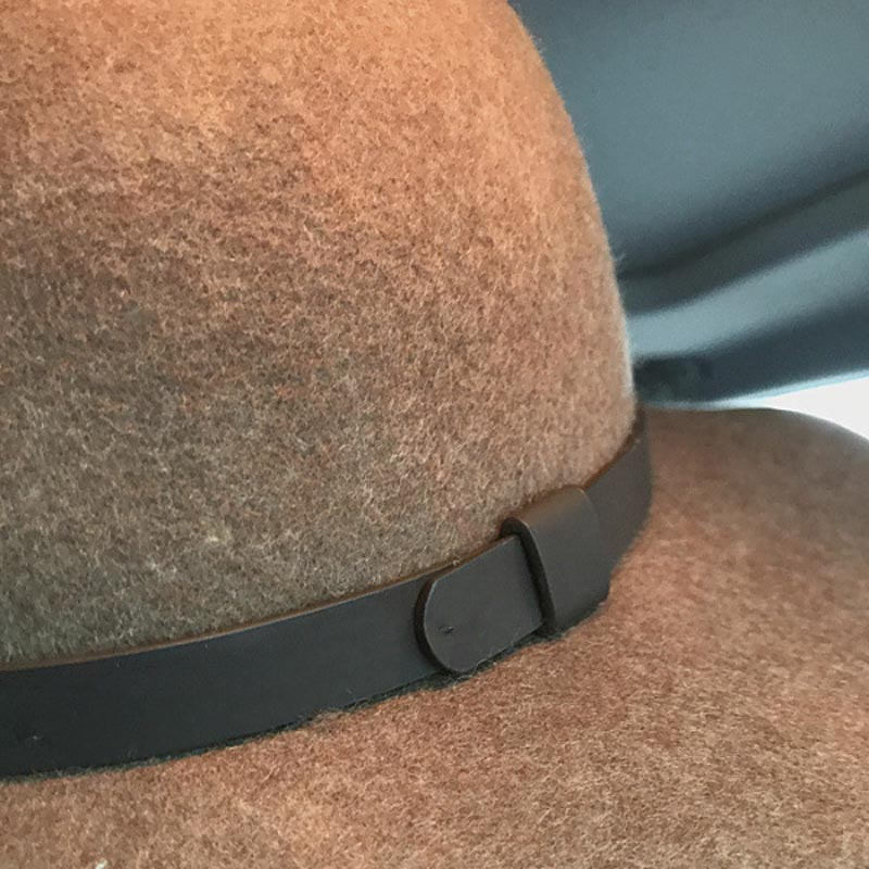 54ef5c6003f Aliexpress.com   Buy Fibonacci High Quality Women Wool Felt Fedora Hat 10cm  Big Brim Brown Elegant Dome Fedora from Reliable wool felt fedora suppliers  on ...
