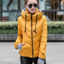Women's cotton-padded jacket 2016 winter medium-long down cotton plus size jacket female slim ladies jackets and coats