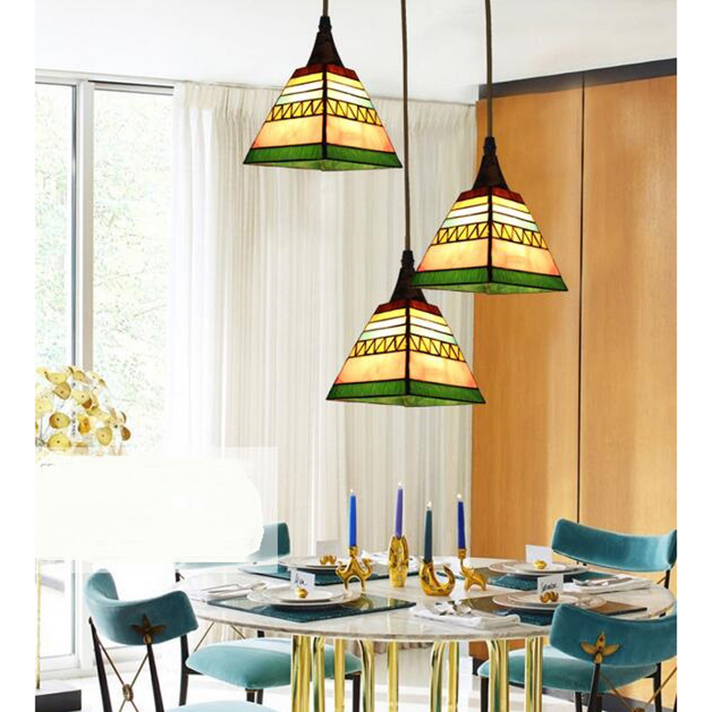 Tiffany European simple study countryside creative Tiffany pendant light Mediterranean Restaurant pendant lamp DF82 LU1023 tiffany restaurant in front of the hotel cafe bar small aisle entrance hall creative pendant light mediterranean df66