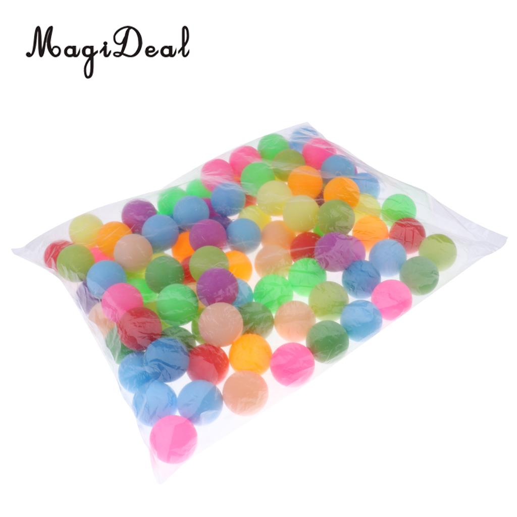 MagiDeal Pack of 100pcs Assorted Color Table Tennis Balls Ping P ong Beer P ong - Cat Balls
