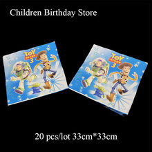 20pcs/pack Toy Story disposable napkins Toy Story theme birthday party decoration Toy Story towel disposable tableware(China)