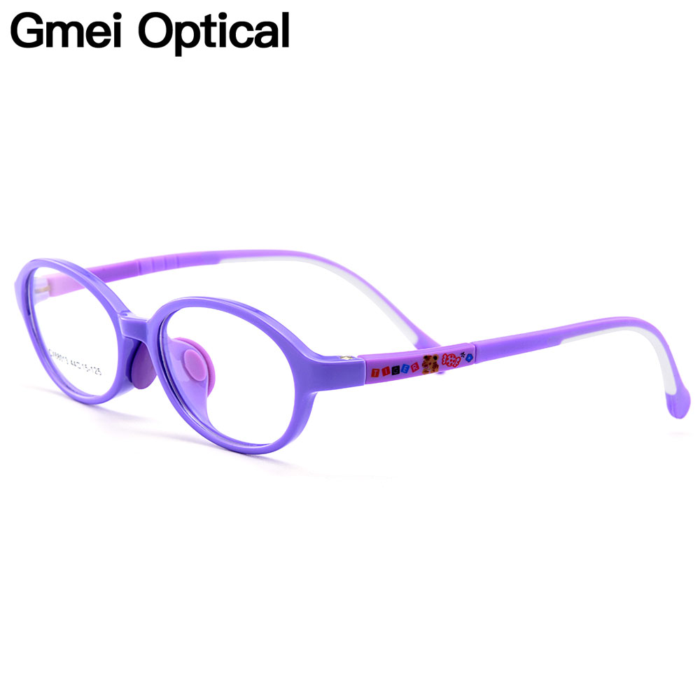 Gmei Optical New Healthy Ultra-light Flexible TR90 Silica Gel Comfortable Safe Full Rim Kids Eyeglass Frames CX68013