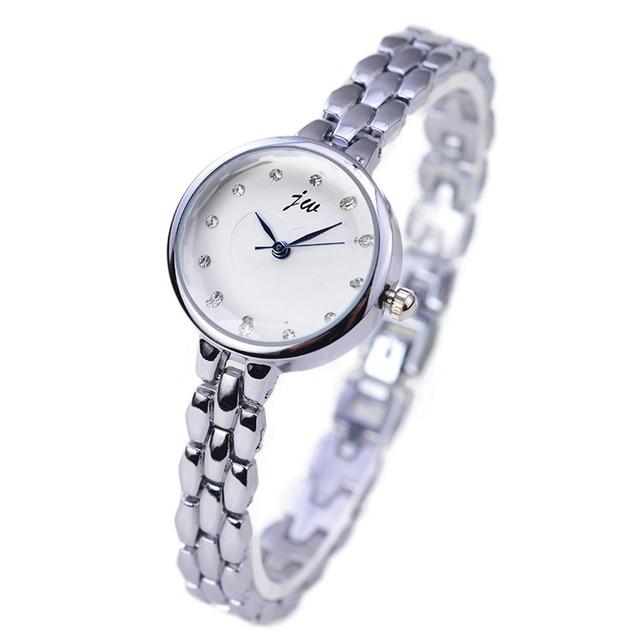 2018 JW Brand Fashion Bracelet Watches Women Luxury Rose Gold Stainless Steel Qu